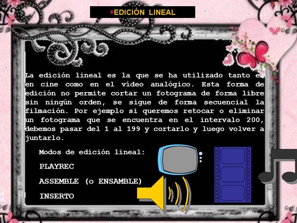 PLAYREC ASSEMBLE (o ENSAMBLE) INSERTO EDICIÓN LINEAL