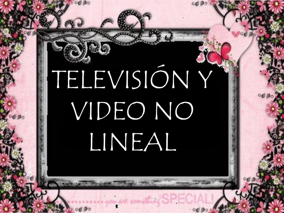 TELEVISIÓN Y VIDEO NO LINEAL