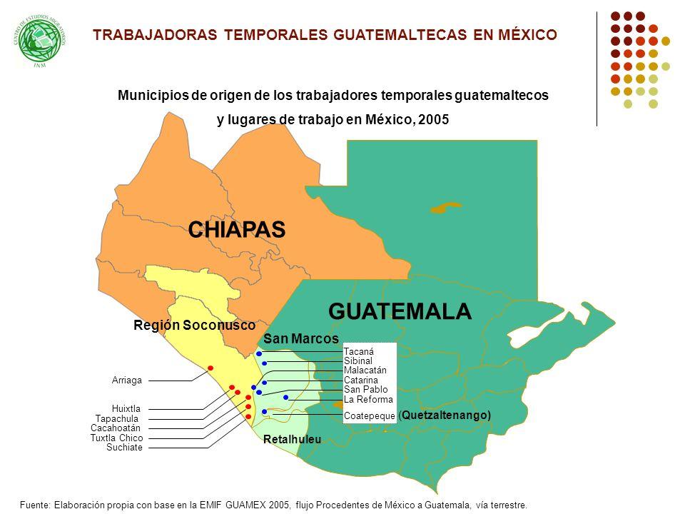 CHIAPAS GUATEMALA TRABAJADORAS TEMPORALES GUATEMALTECAS EN MÉXICO