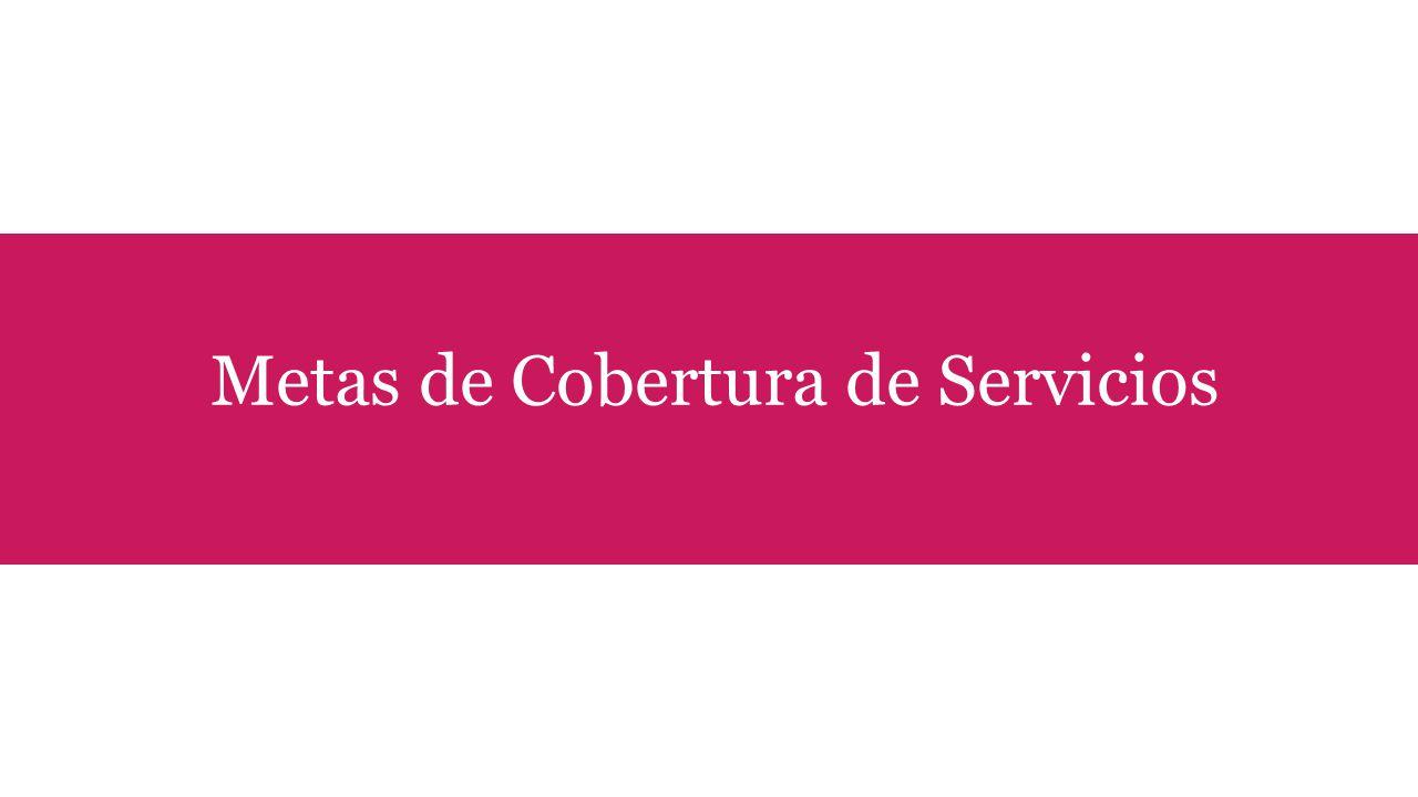 Metas de Cobertura de Servicios