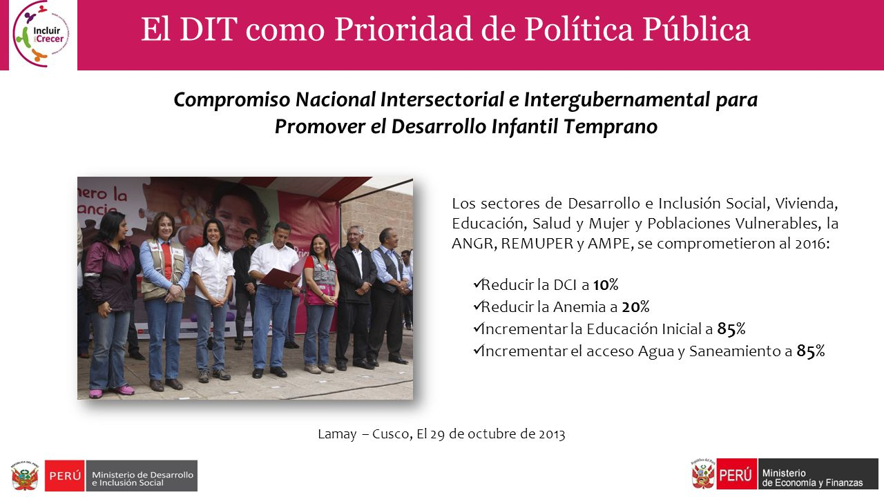 El DIT como Prioridad de Política Pública