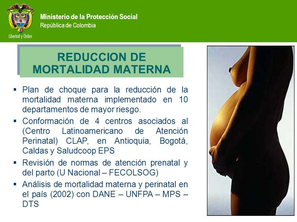 REDUCCION DE MORTALIDAD MATERNA
