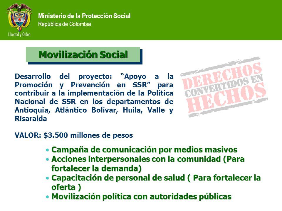 Movilización Social Campaña de comunicación por medios masivos