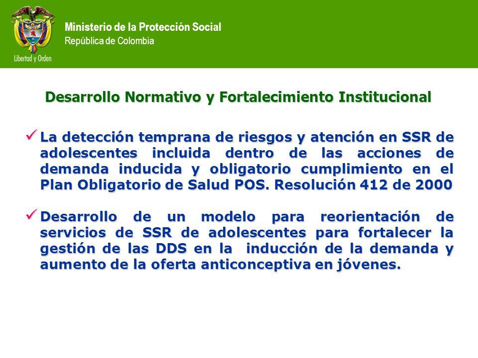 Desarrollo Normativo y Fortalecimiento Institucional