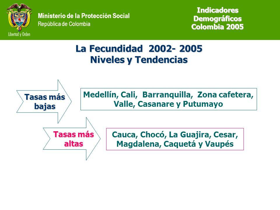 La Fecundidad 2002- 2005 Niveles y Tendencias