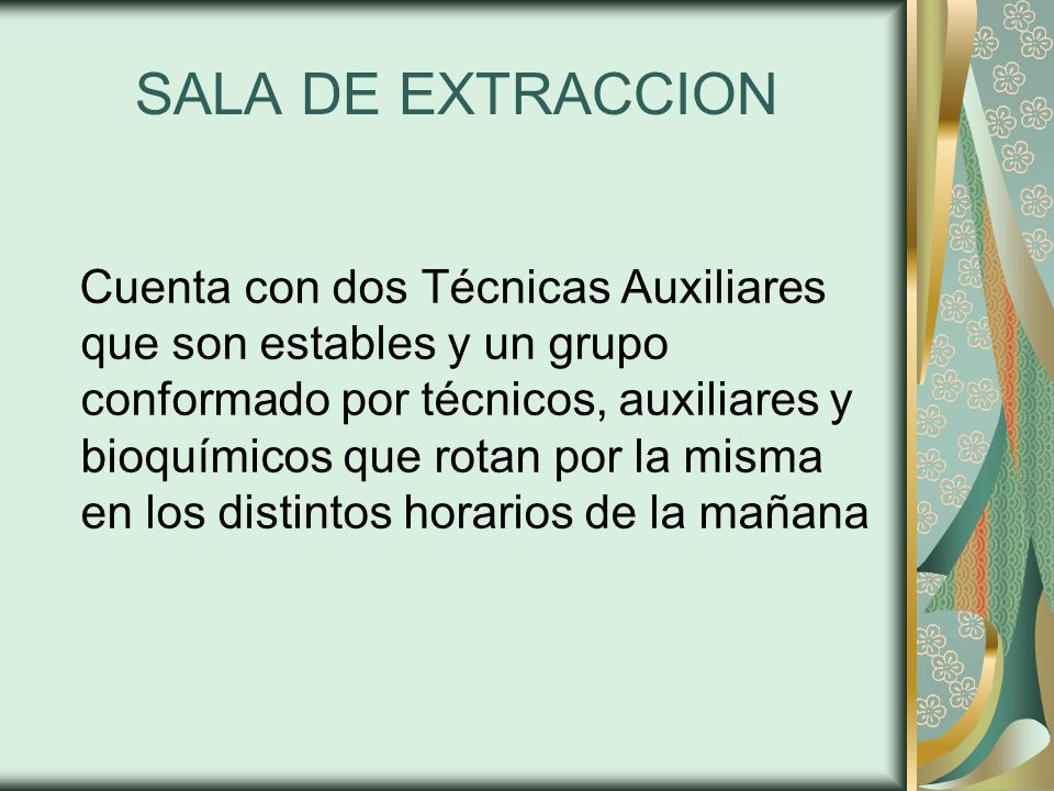 SALA DE EXTRACCION