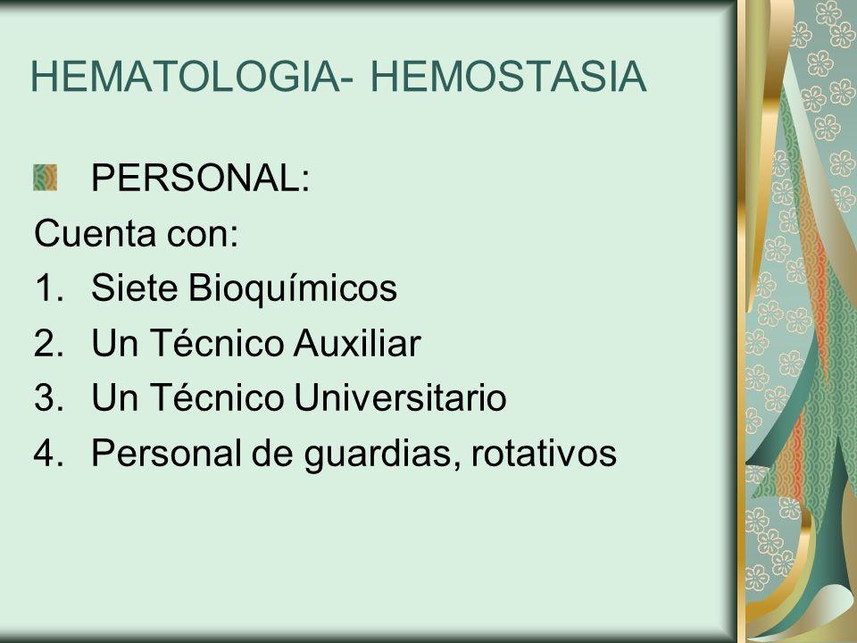HEMATOLOGIA- HEMOSTASIA