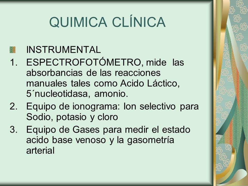 QUIMICA CLÍNICA INSTRUMENTAL