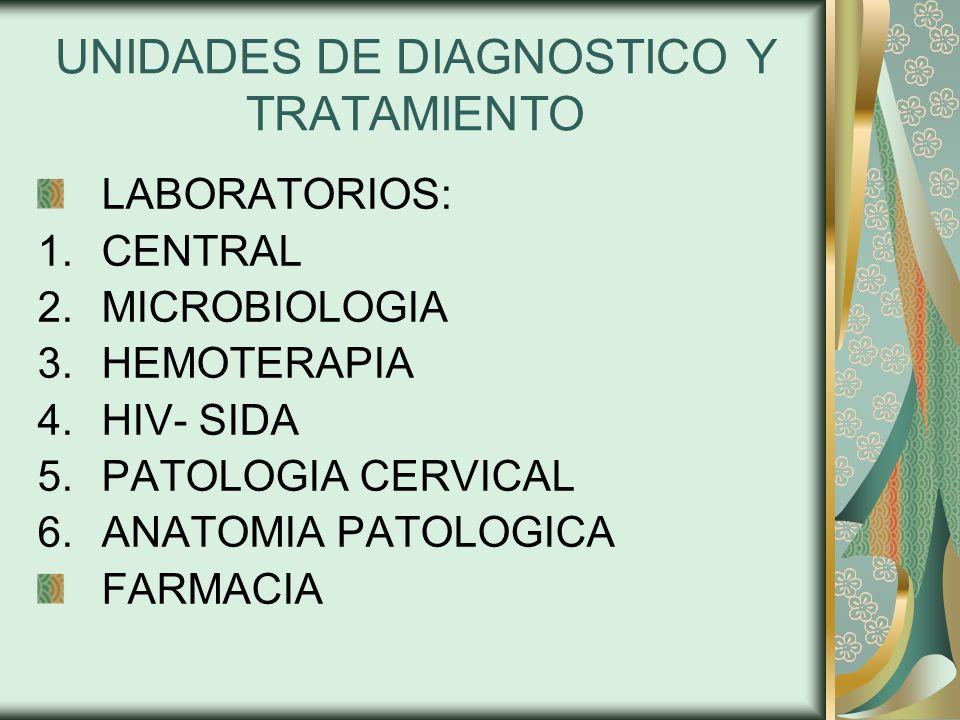UNIDADES DE DIAGNOSTICO Y TRATAMIENTO