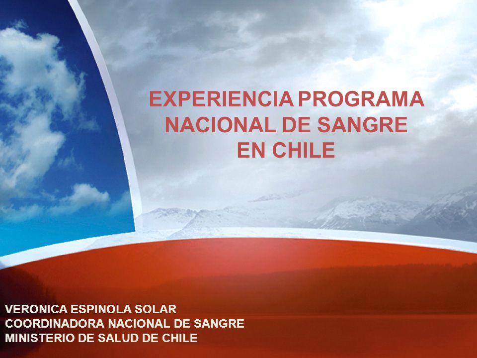 EXPERIENCIA PROGRAMA NACIONAL DE SANGRE EN CHILE
