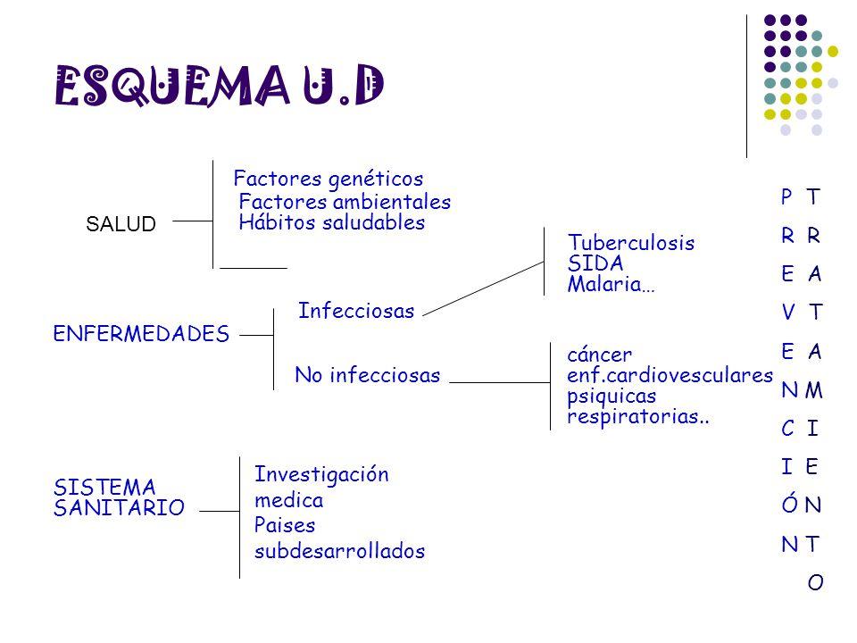 ESQUEMA U.D Factores genéticos Infecciosas Factores ambientales