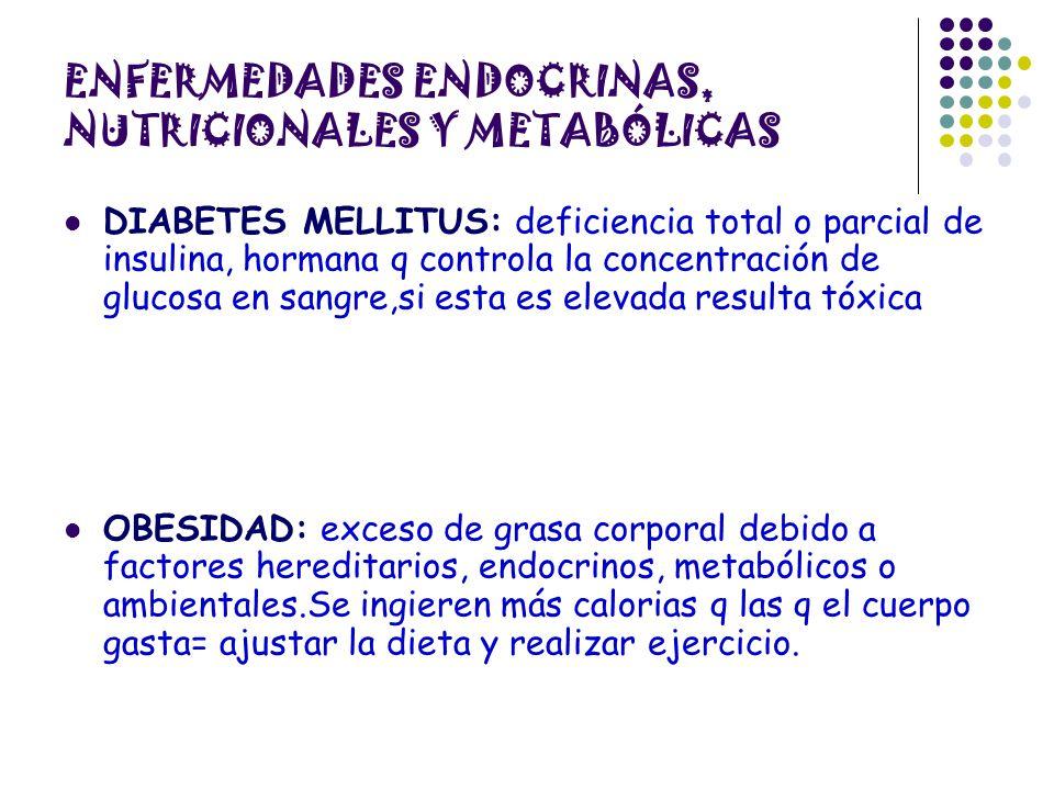 ENFERMEDADES ENDOCRINAS, NUTRICIONALES Y METABÓLICAS