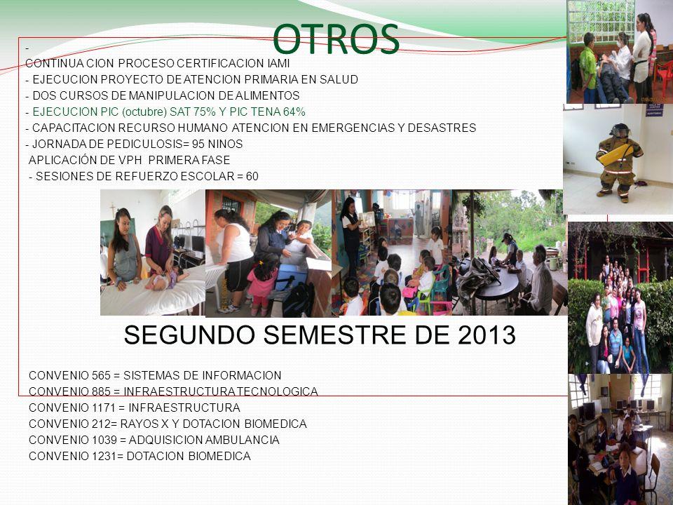 OTROS SEGUNDO SEMESTRE DE 2013 -