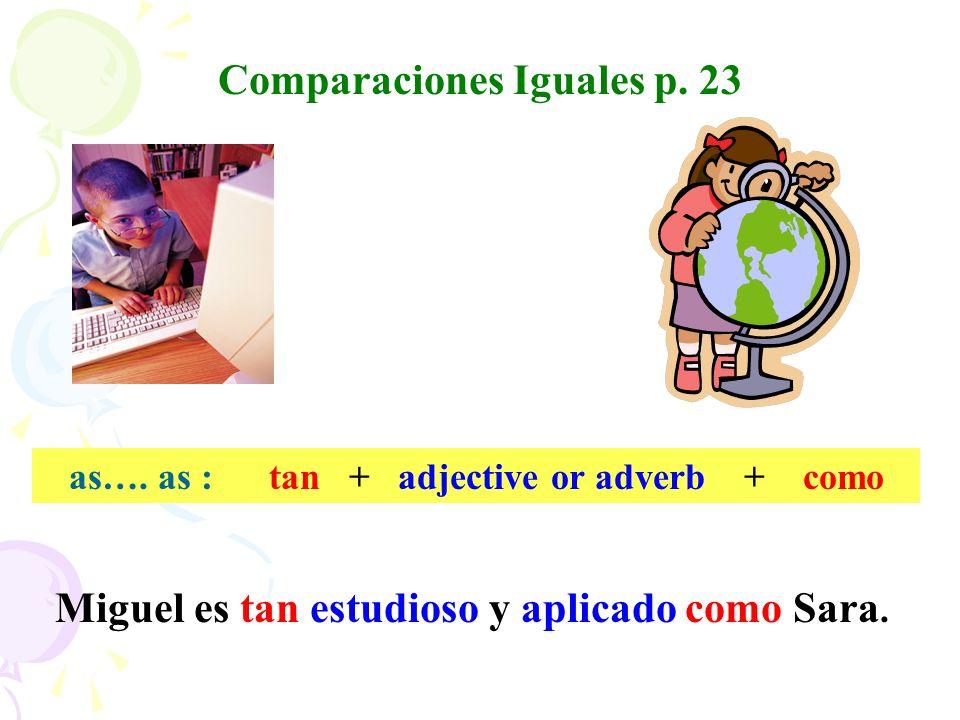 Comparaciones Iguales p. 23