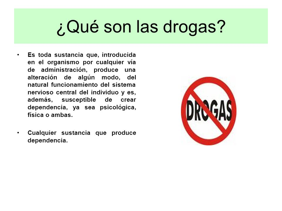 ¿Qué son las drogas