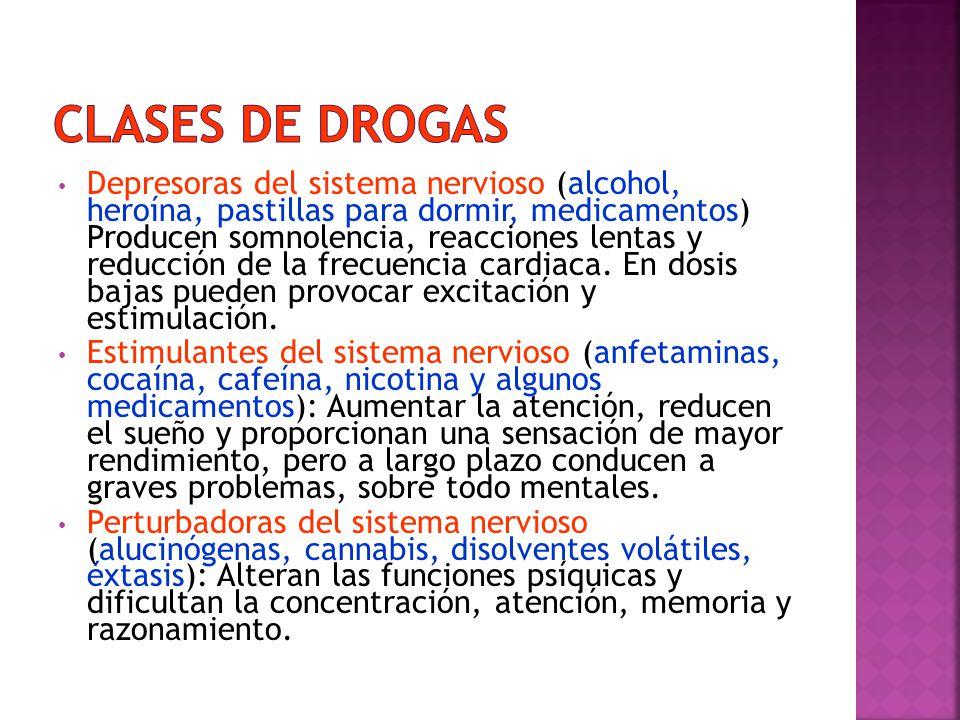 Clases de drogas
