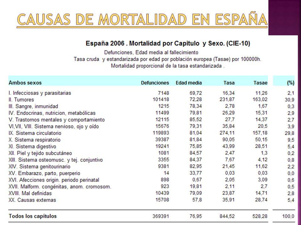 Causas de mortalidad en España