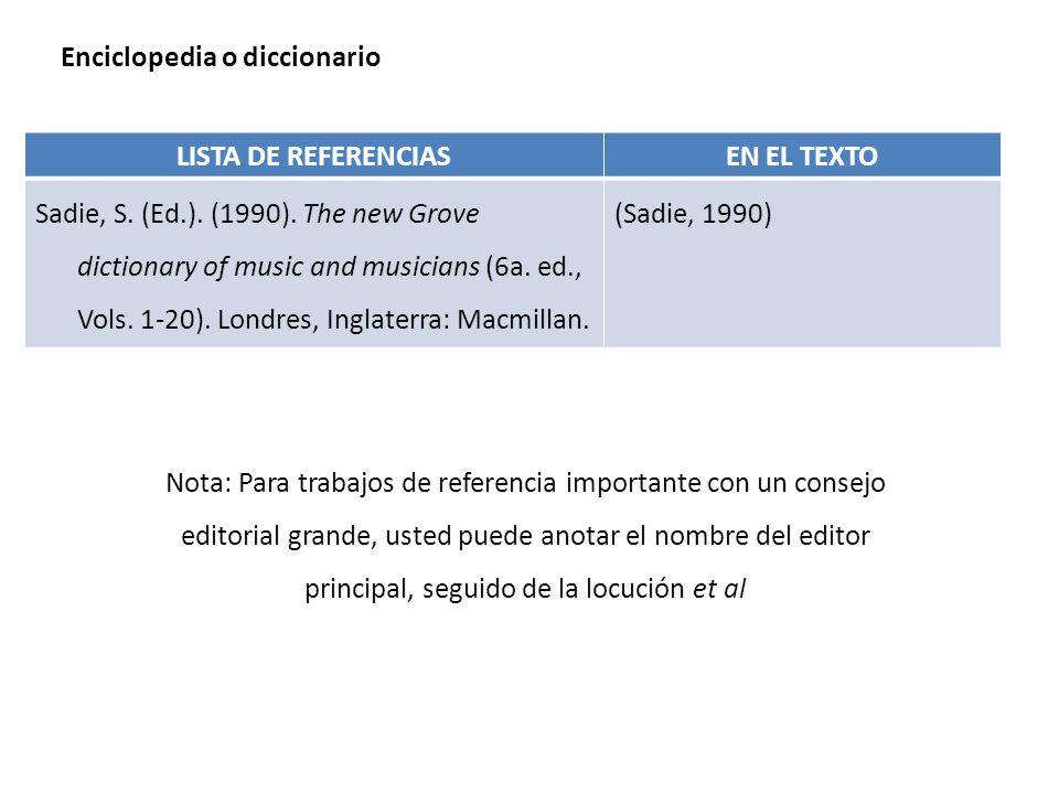 Enciclopedia o diccionario