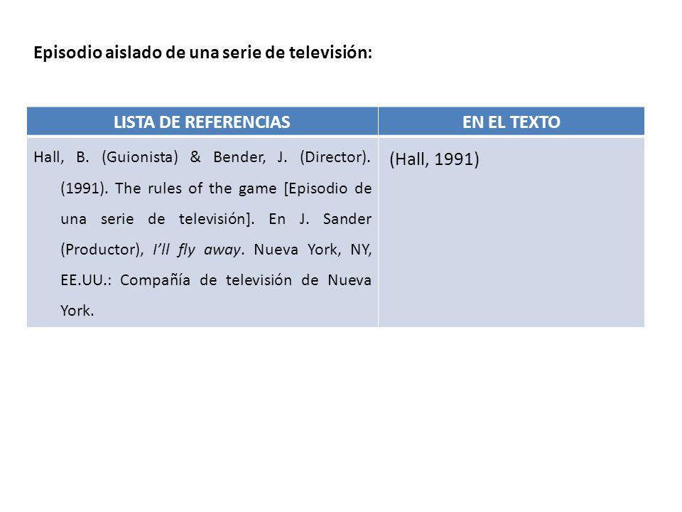 LISTA DE REFERENCIAS EN EL TEXTO