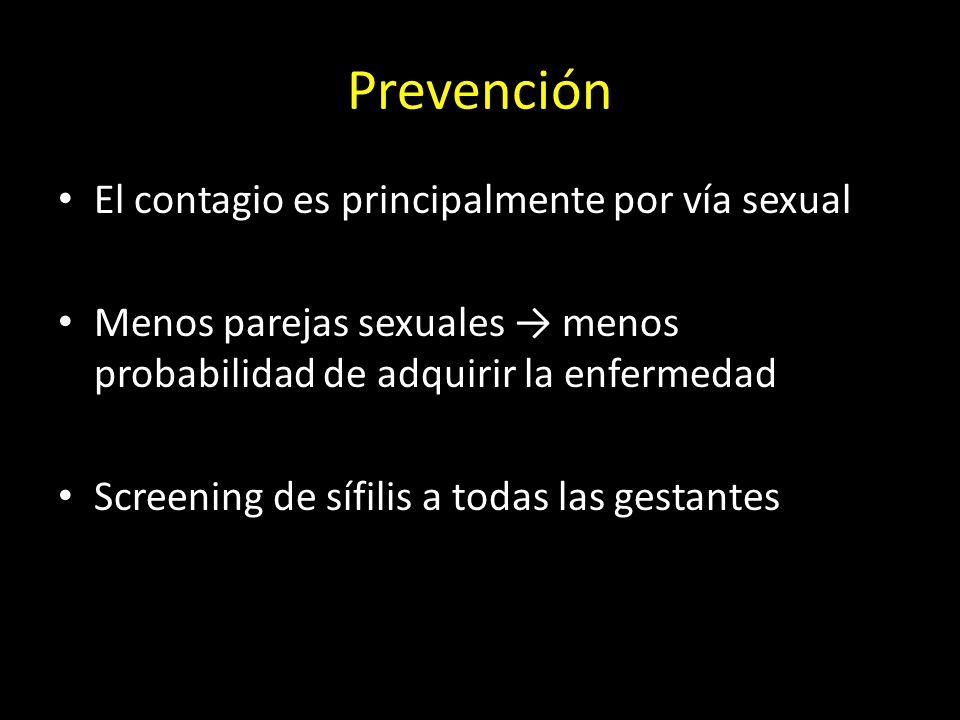 Prevención El contagio es principalmente por vía sexual