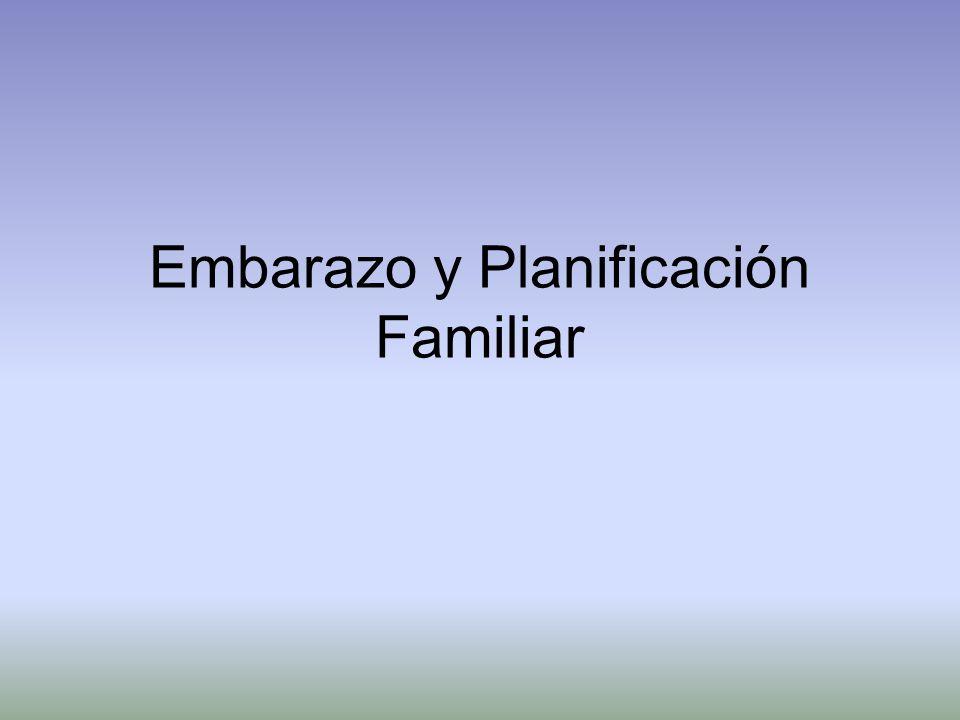Embarazo y Planificación Familiar
