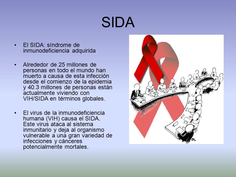 SIDA El SIDA: síndrome de inmunodeficiencia adquirida