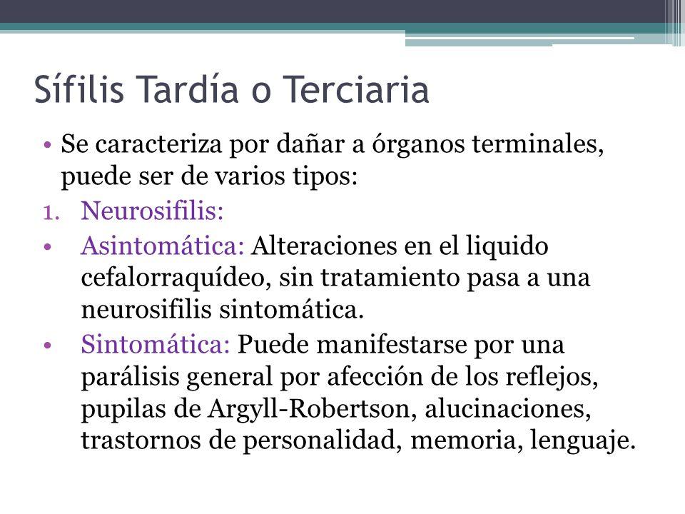 Sífilis Tardía o Terciaria