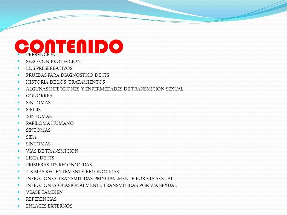 CONTENIDO PREBENCION SEXO CON PROTECCION LOS PRESERBATIVOS