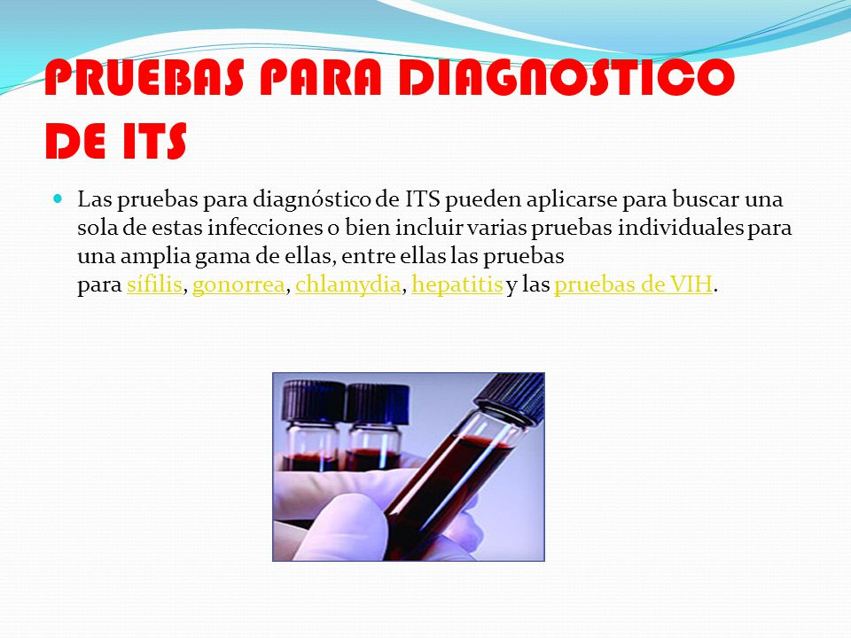 PRUEBAS PARA DIAGNOSTICO DE ITS