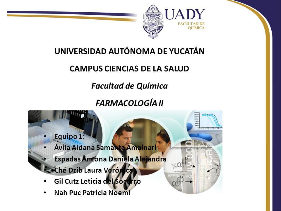 UNIVERSIDAD AUTÓNOMA DE YUCATÁN CAMPUS CIENCIAS DE LA SALUD Facultad de Química