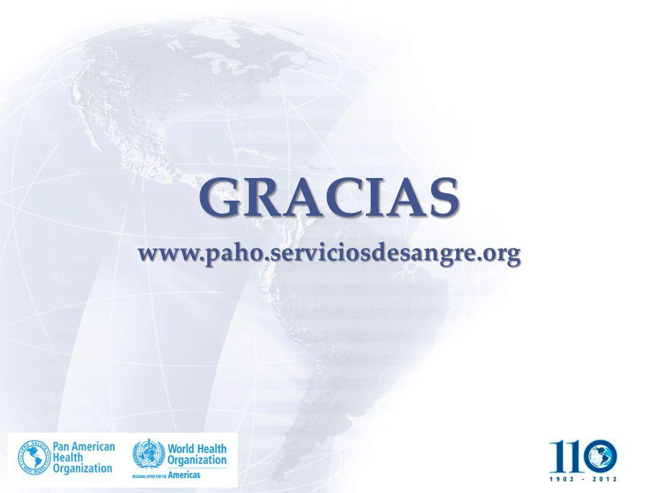 GRACIAS www.paho.serviciosdesangre.org