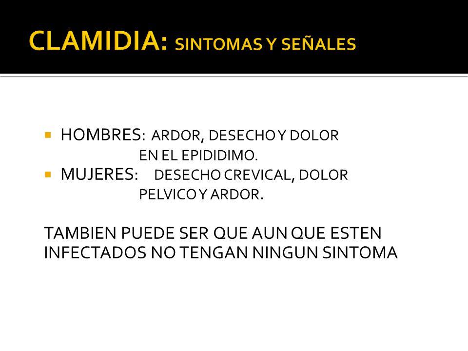 CLAMIDIA: SINTOMAS Y SEÑALES