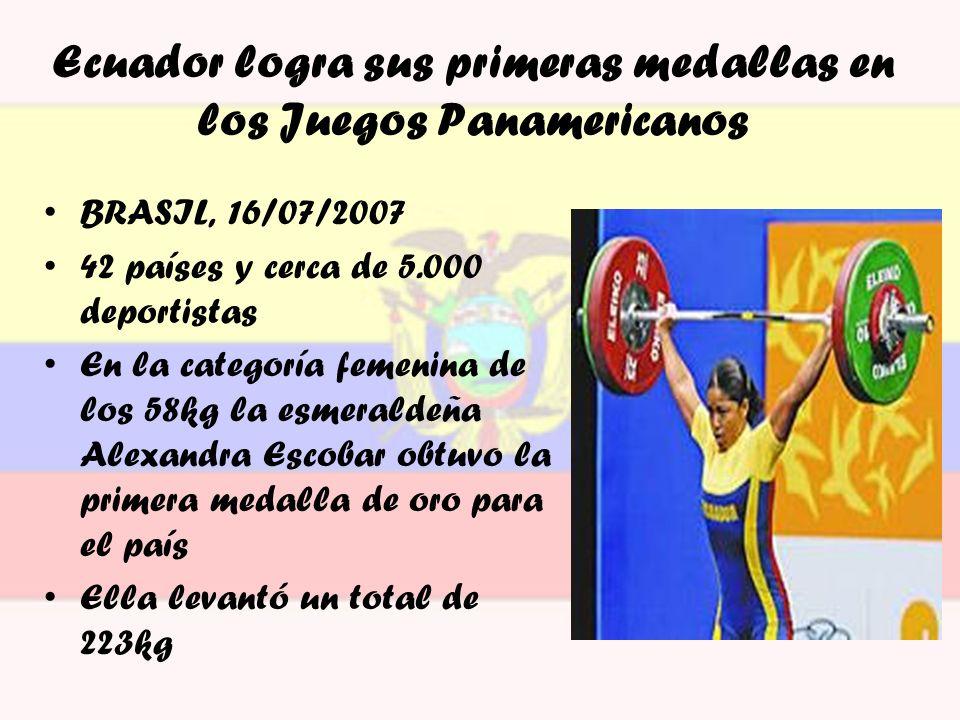 Ecuador logra sus primeras medallas en los Juegos Panamericanos