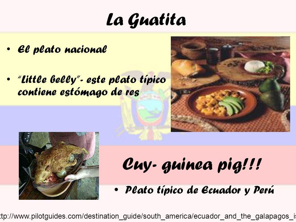 La Guatita Cuy- guinea pig!!! El plato nacional