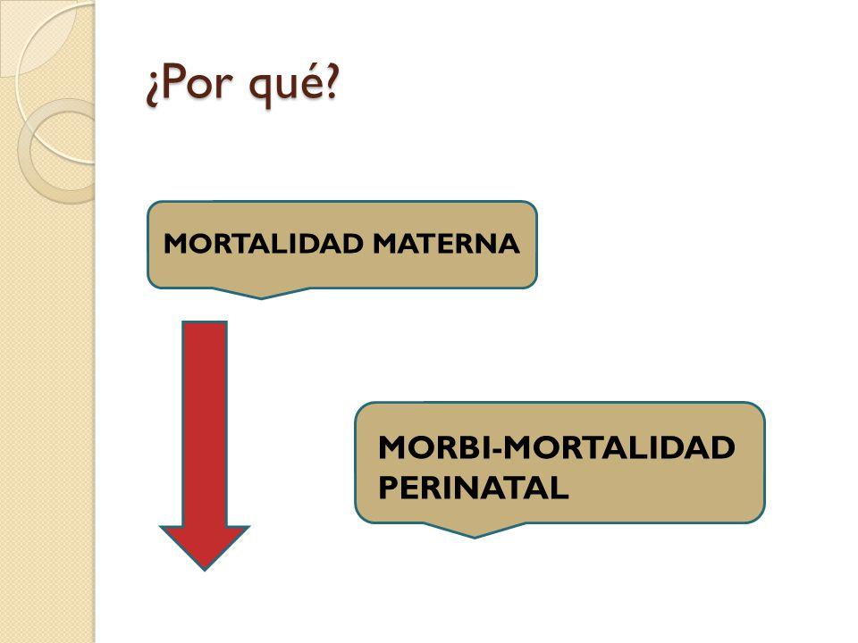 ¿Por qué MORTALIDAD MATERNA MORBI-MORTALIDAD PERINATAL