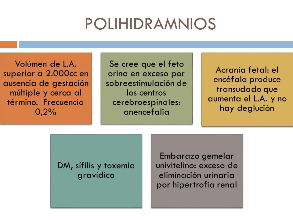 DM, sífilis y toxemia gravídica