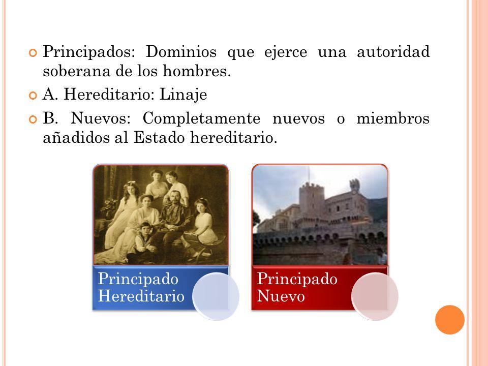 Principados: Dominios que ejerce una autoridad soberana de los hombres.
