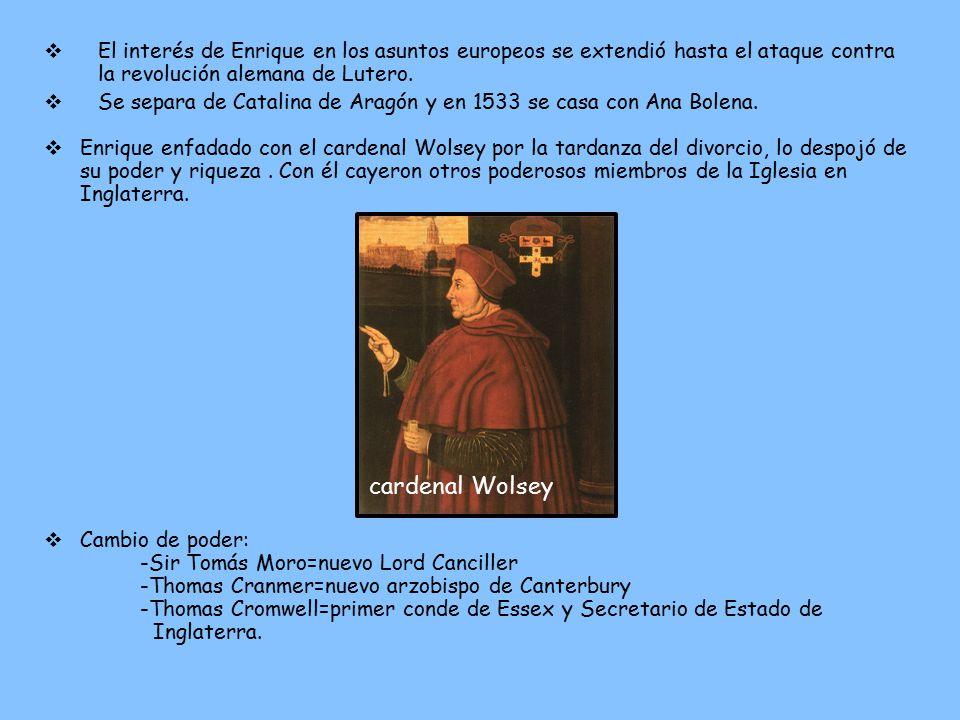 El interés de Enrique en los asuntos europeos se extendió hasta el ataque contra la revolución alemana de Lutero.