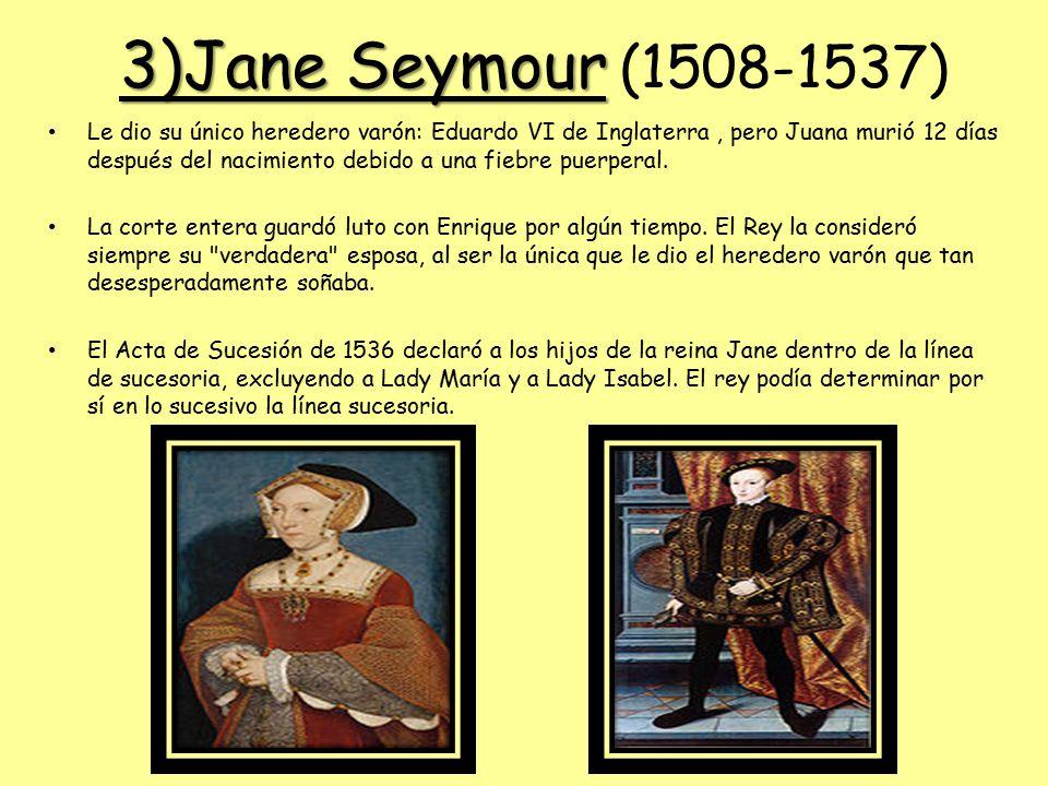 3)Jane Seymour (1508-1537)