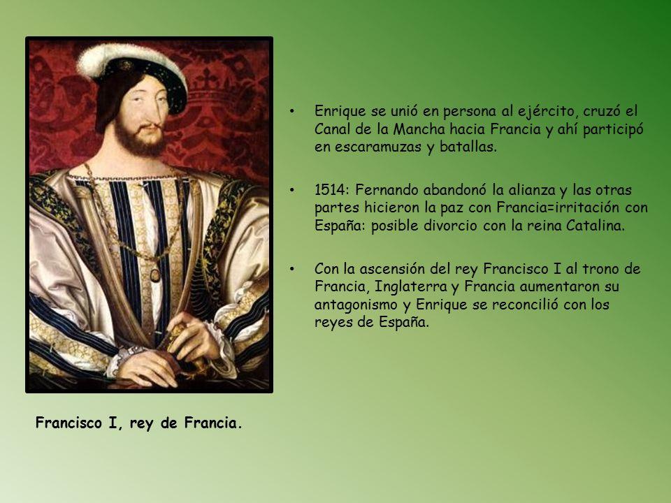 Enrique se unió en persona al ejército, cruzó el Canal de la Mancha hacia Francia y ahí participó en escaramuzas y batallas.