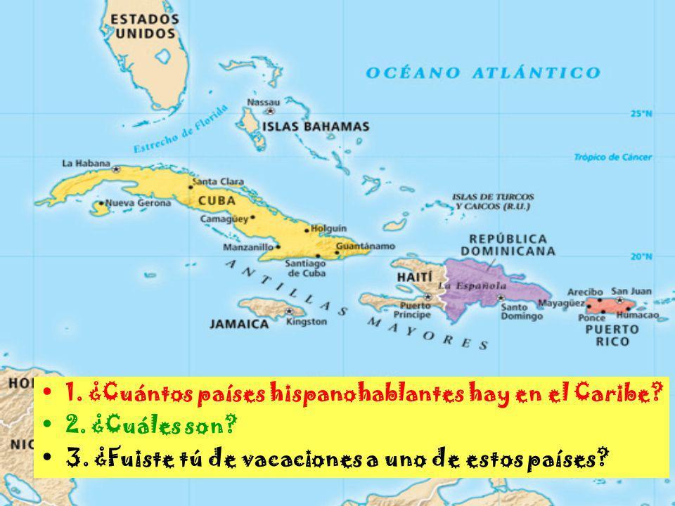 1. ¿Cuántos países hispanohablantes hay en el Caribe