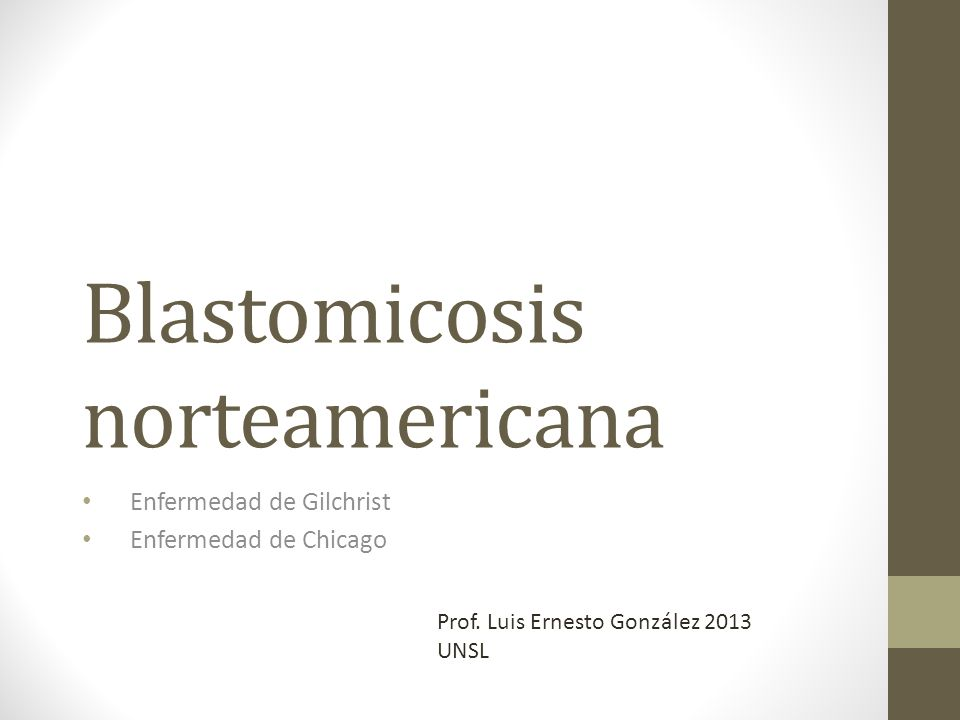 Blastomicosis norteamericana