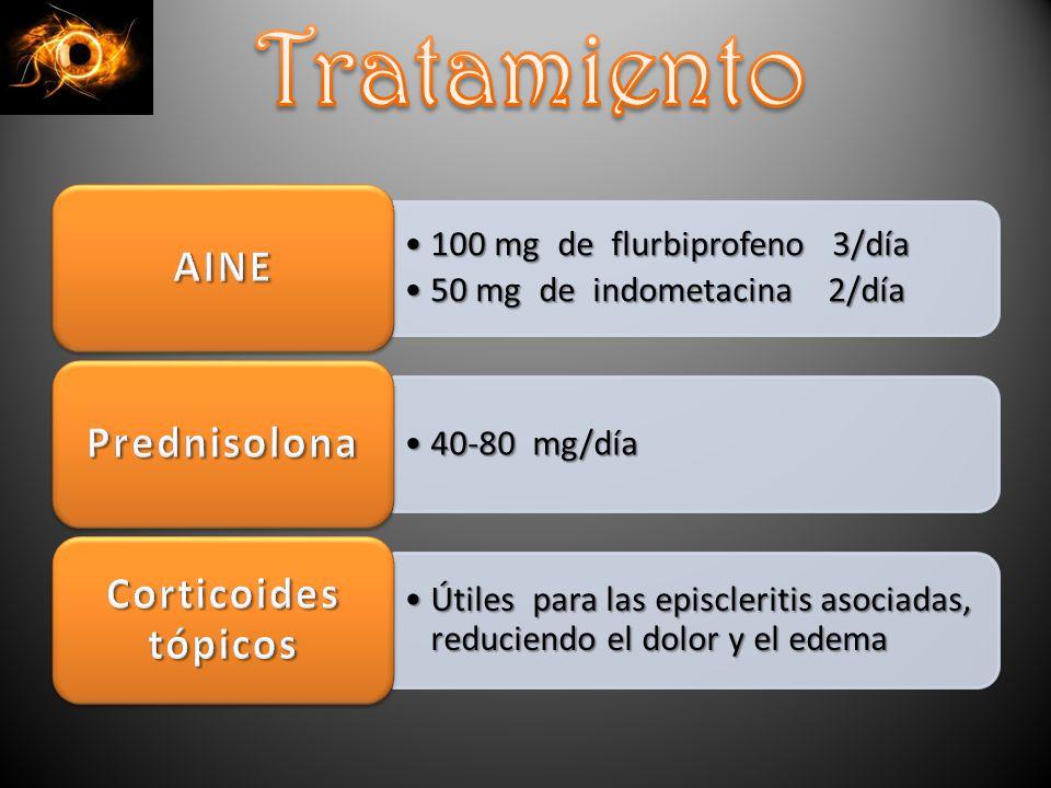Tratamiento AINE 100 mg de flurbiprofeno 3/día