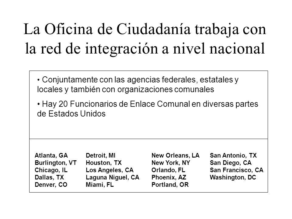 La Oficina de Ciudadanía trabaja con la red de integración a nivel nacional