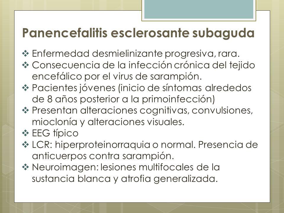 Panencefalitis esclerosante subaguda