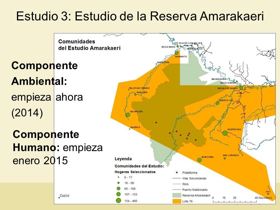Estudio 3: Estudio de la Reserva Amarakaeri