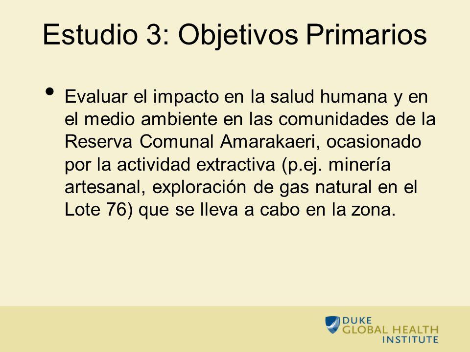 Estudio 3: Objetivos Primarios