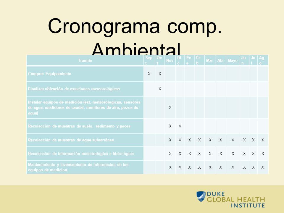 Cronograma comp. Ambiental