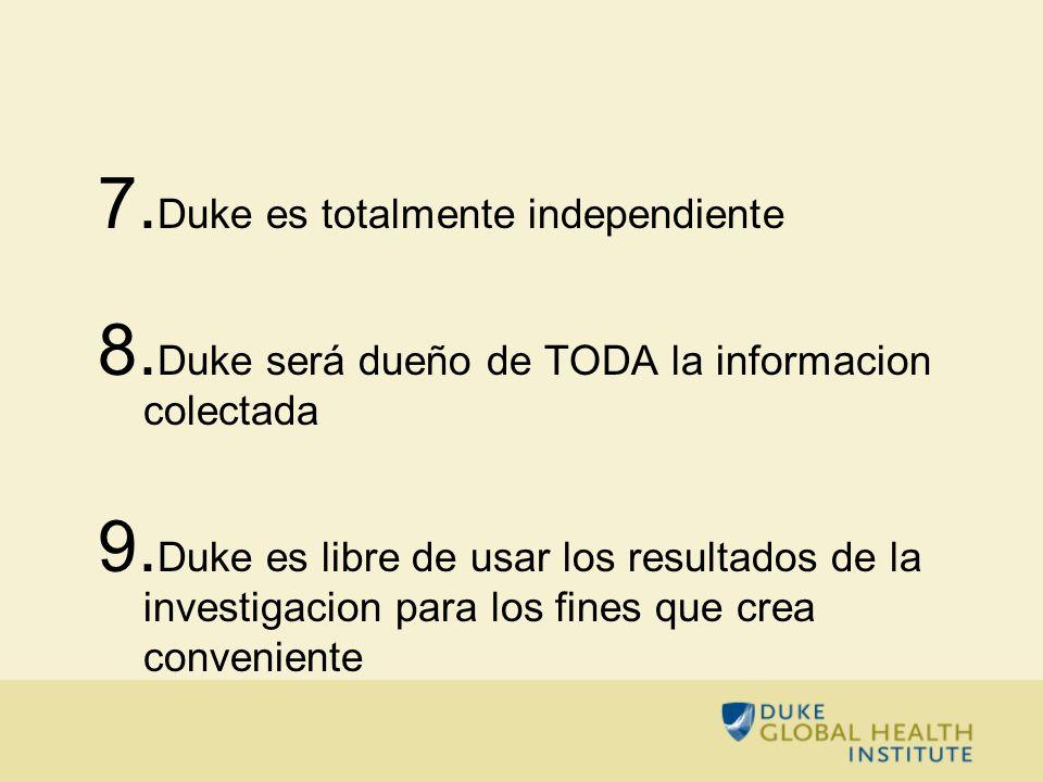 Duke es totalmente independiente
