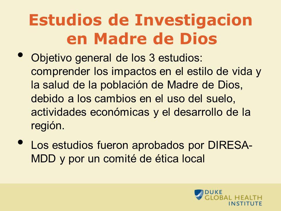 Estudios de Investigacion en Madre de Dios